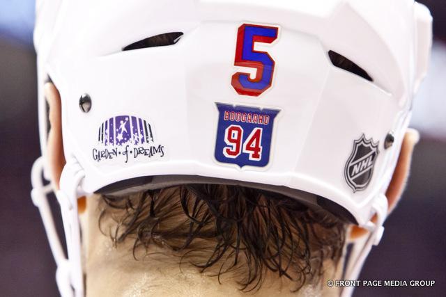 Dan girardi5 helmet sticker