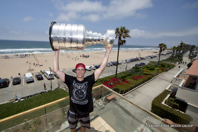 California's own Beau Bennett, brings The Stanley Cup home.