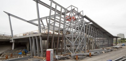 Steel framework at the new Tremblay Station