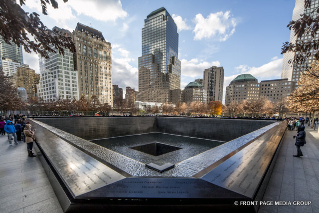 One of the reflecting pools at Ground Zero in NYC.