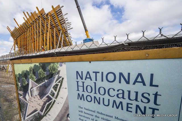 The National Holocaust Memorial by UCC Group on the edge of LeBreton Flats.