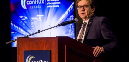 Jonathan Wilkinson, Parliamentary Secretary to the Minister of Environment and Climate Change, provided a keynote presentation at the conclusion of Conflux Canada.